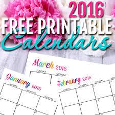 free printable planner calendar 2016 free 2016 printable calendars completely editable online use