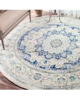Round Blue Rugs Save Your Pennies Deals On Nuloom Modern Abstract Vintage Blue