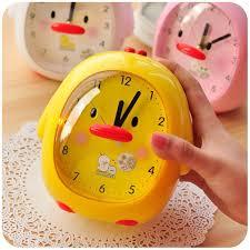2017 quietly love creative cute korean small alarm clock silent