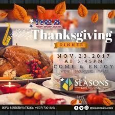 usa thanksgiving day dinner seasons community events calendar