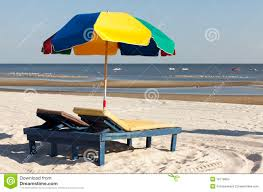 Lounge Chair Umbrella Colorful Beach Umbrella And Lounge Chair Stock Images Image