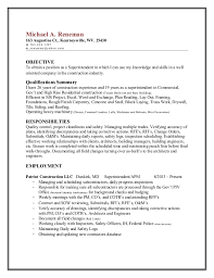 Construction Superintendent Resume Examples And Samples by Construction Superintendent Resume Examples And Samples
