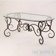 wrought iron coffee table with glass top ceramic mosaic iron oval table for garden patio outdoor triquimex