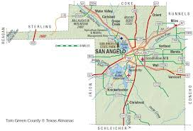 map of san angelo tom green county the handbook of state