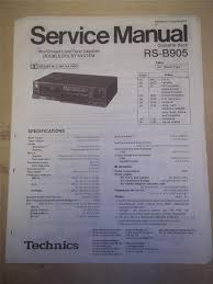 panasonic service manual rs b905 cassette deck tape player