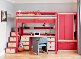 idee deco mezzanine bureau sous lit mezzanine