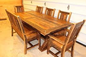 mission dining table fence row furniture