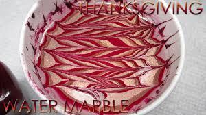 thanksgiving water marble diy nail art tutorial youtube