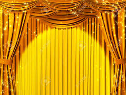 Yellow Curtain Theatrical Curtain Of Yellow Color Stock Photo Picture And