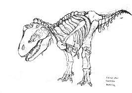 dinosaur skeleton coloring page olegandreev me