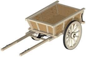 wooden cart cart