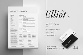 Best Resume Font And Size 2017 by Resume Cv Elliot Resume Templates Creative Market