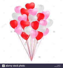 heart shaped balloons bunch of transparent realistic heart shaped balloons of pink