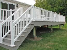 vinyl porch railing installation vinyl deck railing ideas