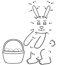 easter bunny connect the dots count by 1 u0027s easter