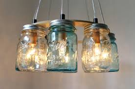 Diy Light Fixtures by Mason Jar Hanging Lights Pair Of Knotted Hanging Mason Jars