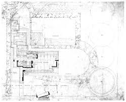 floor plan drafting frank lloyd wright 2d site plan drawing example featuring ground