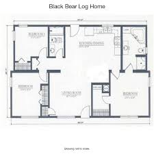 Floor Plans For Log Cabins Black Bear Log Home Cabin Rentals