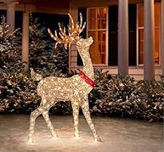 Chic Design Christmas Deer Outdoor Decorations Wooden Chritsmas Decor