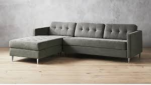 Tufted Sectional Sofa Ditto Ii Pewter Tufted Sectional Sofa Cb2