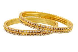 gold bangle bracelet design images Buy jewbang sparkling gold bangles size 2 4 bangles for women jpg
