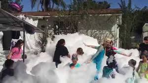 snow machine rental frozen foam party with a foam machine rental that looks like snow