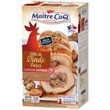 comment cuisiner un roti de dinde rôti de dinde cuisson express farci à la forestière maître coq