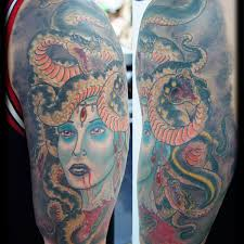 wild half sleeve tattoo 5 medusa half sleeve tattoo on