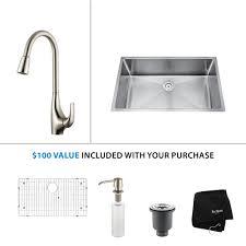 100 Pulldown Kitchen Faucet Sink by Stainless Steel Kitchen Sink Combination Kraususa Com