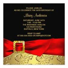 50th birthday party invitations black gold glitter 50th womans