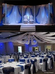 blue wedding reception decorations wedding corners