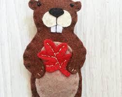 beaver ornament etsy