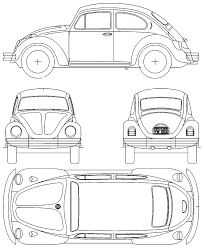 volkswagen beetle clipart car blueprints volkswagen beetle 1500 blueprints vector
