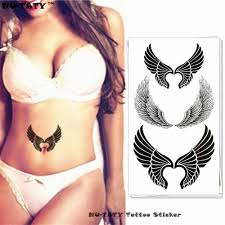 neck wing tattoos compare prices on fake wing tattoo online shopping buy low price