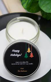 personalised christmas gifts or christmas presents 4 oz soy candle