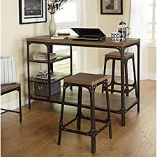 3 piece counter height table set gracie oaks platane industrial 5 piece counter height dining set in