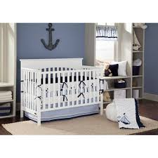 Crib Bedding Boys Bacati Sailor Blue Navy Boys 10 Boys Nursery In A