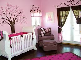 Pink Room Ideas by Nice Looking White Wooden Convertible Crib With Oversize Chair