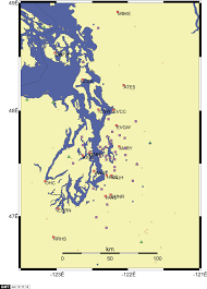 Seattle Area Code Map by Rac Meeting 2001 Pacific Northwest Seismic Network