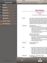 Resume Builder Pro Create Stylish Resumes U0026 Cvs On The Ipad No Formatting Required