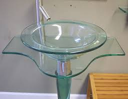 Bathroom Pedestal Sinks Ideas by Bathroom Glamorous Wide Contemporary Modern Bathroom Glass Vessel