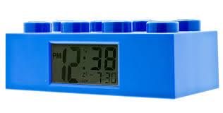 weird clocks amazon com lego blue brick kids light up alarm clock blue