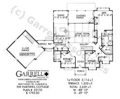 southern style home floor plans hartwell cottage house plan country farmhouse southern