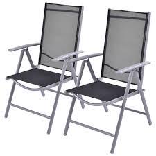 Textilene Patio Furniture by Amazon Com Giantex Set Of 2 Patio Folding Chairs Adjustable