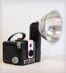 vintage brownie hawkeye kodak camera with flash pink home