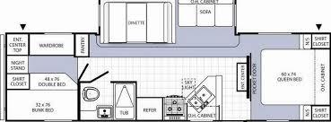 rv bunkhouse floor plans kitchen impressive fifth wheel bunkhouse floor plans photos