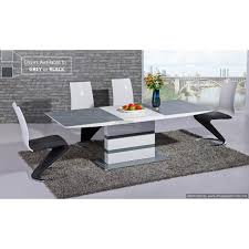 Arctic Grey Glass And White Gloss Extending Dining Table Cm - Glass top dining table montreal