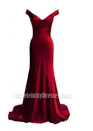 elegant red off the shoulder prom dress evening formal dresses