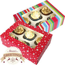 where can i buy christmas boxes buy christmas cupcake boxes 48 x medium boxes at home bargains