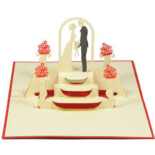 wedding pop up card pop up greeting cards kirigami 3d card